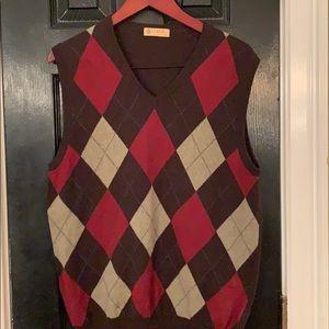 J. Crew vintage argyle cashmere blend vest medium